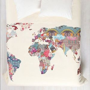 Urban map duvet cover